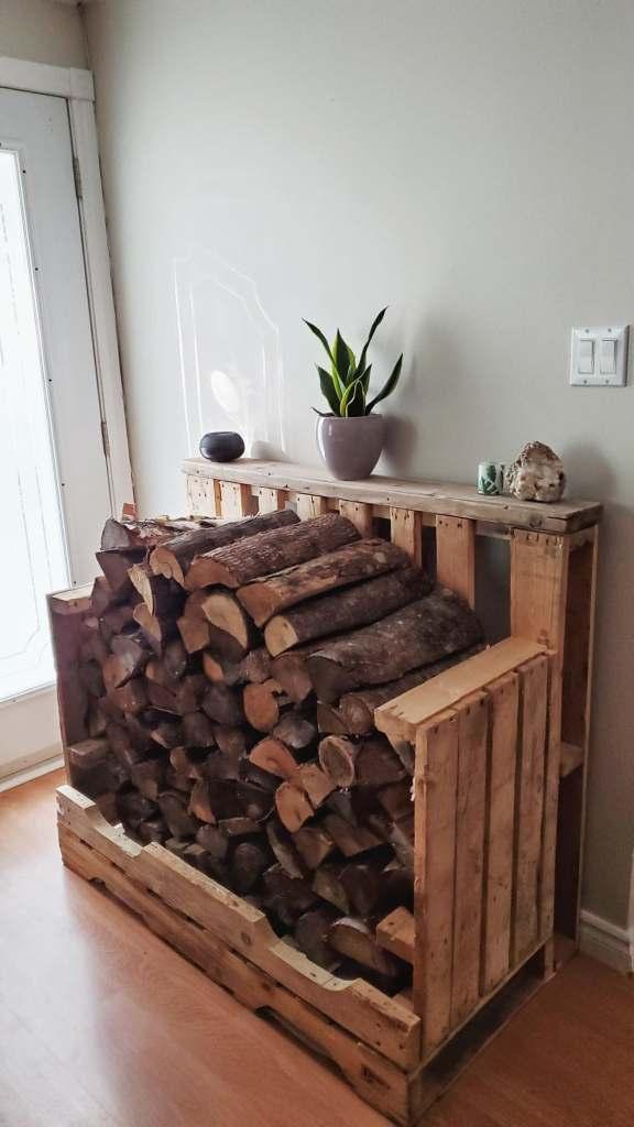 stockage pour bois de chauffage intérieur au quebec