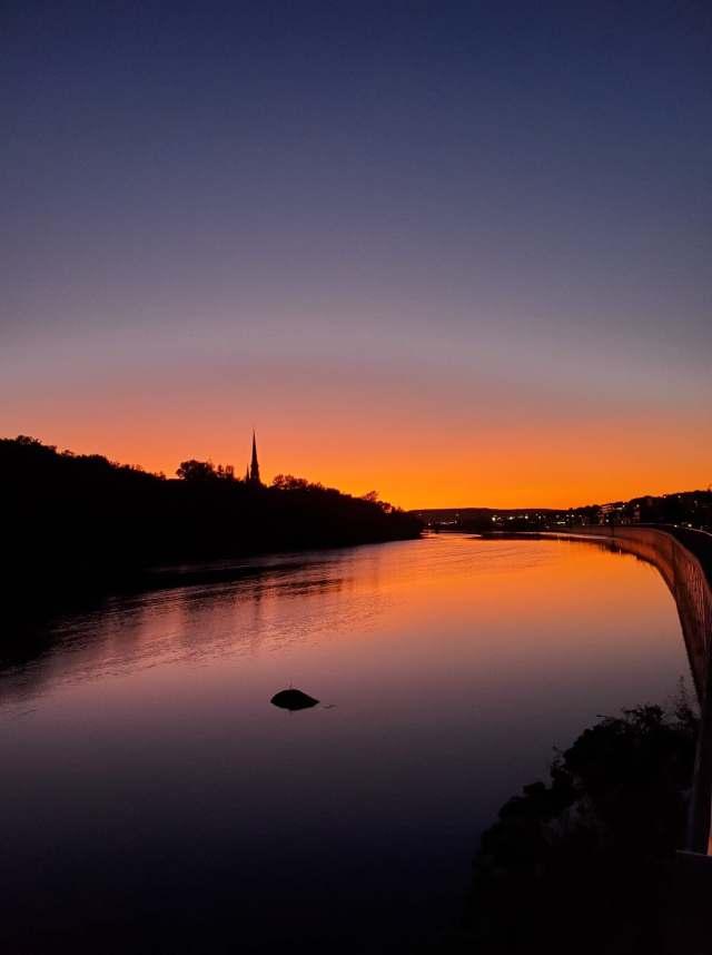 vue sur la riviere chaudiere à Saint-Georges-de-beauce