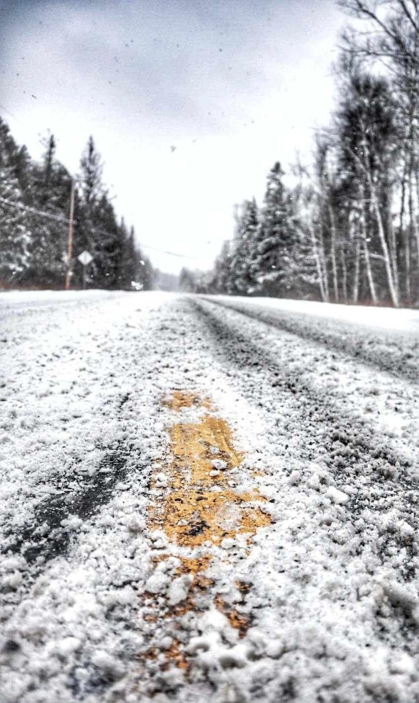 route enneigée du canada