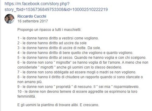 cucchi facebook