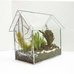 Free Stained Glass Pattern 3108 Terrarium P3108