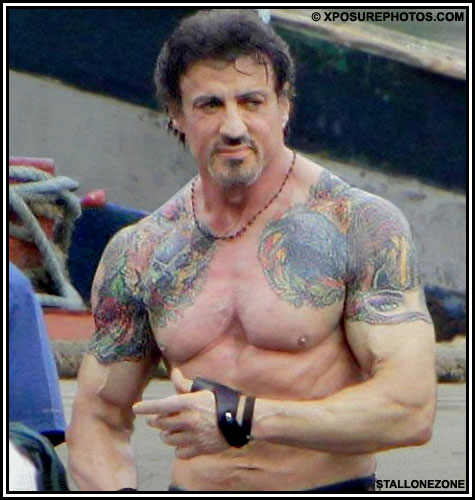 """Expendables Tattoo Wallpaper Expendable Tattoo Drawing By: DailyMail: Sly An €�Action Man"""""""