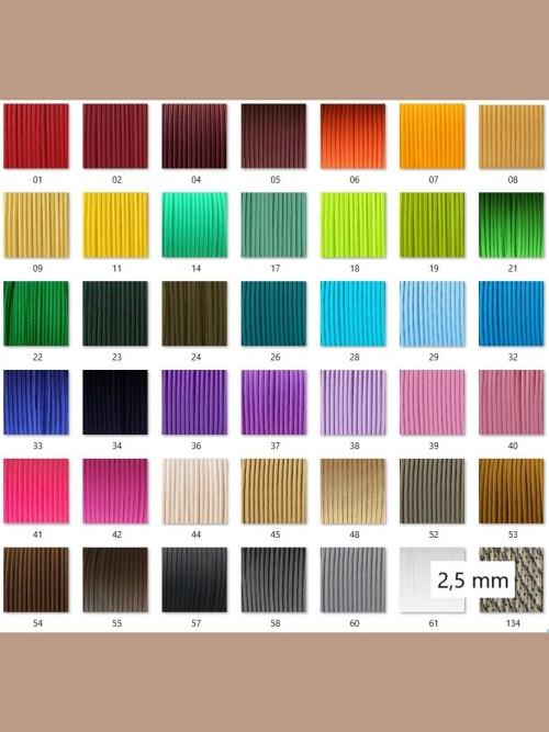 Kleuren 2,5 mm afwerking en neusbanden