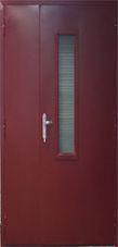 железные двупольные двери с армированным стеклом купить