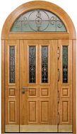 арочные двери со стеклом под заказ
