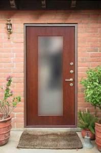 двери в дом мдф+зеркало