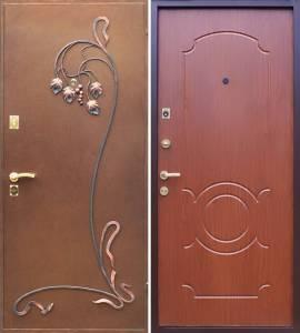 металлические двери +с элементами ковки от производитля