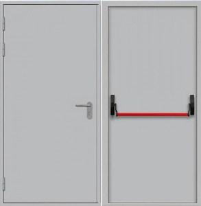 двери однопольные порошковые с антипаникой от завода