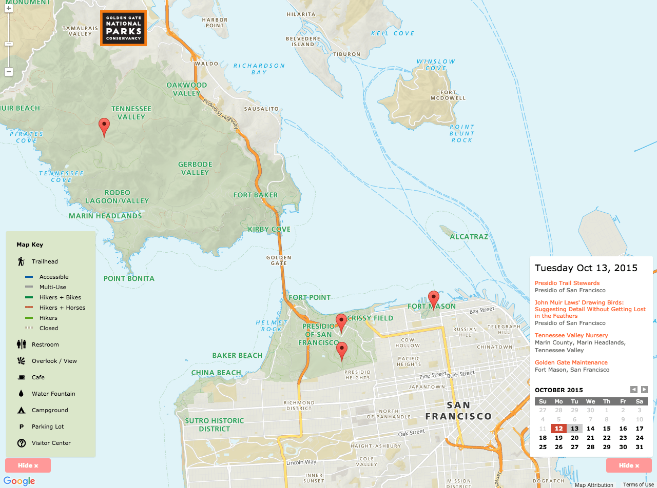Golden Gate Recreation Area Map   Stamen Design Read More About This Project