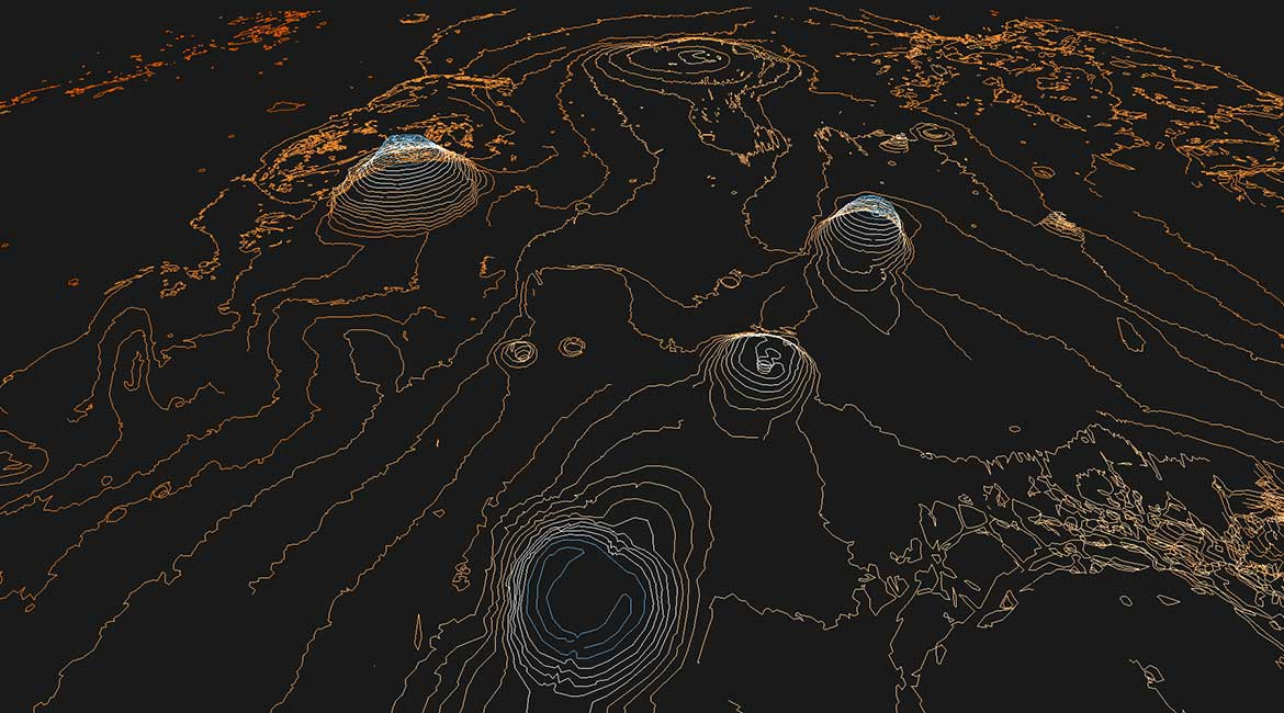 3D Mars Maps   Stamen Design     we put together a 3D contour map of the Martian surface  using data  collected by the Mars Orbiter Laser Altimeter  You can take a look for  yourself at