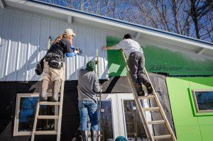 Illustrasjonsfoto av bygningsarbeidere.