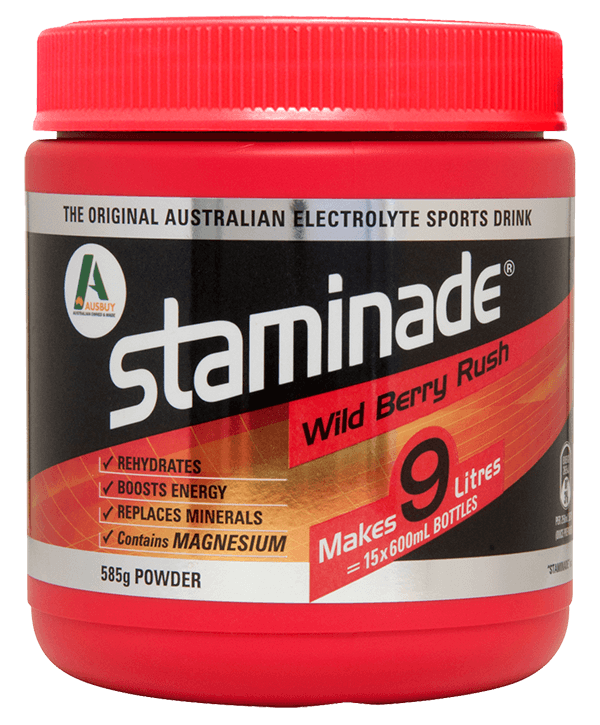 The Original Australian Electrolyte Sports Drink Staminade in Wild Berry Rush Flavour