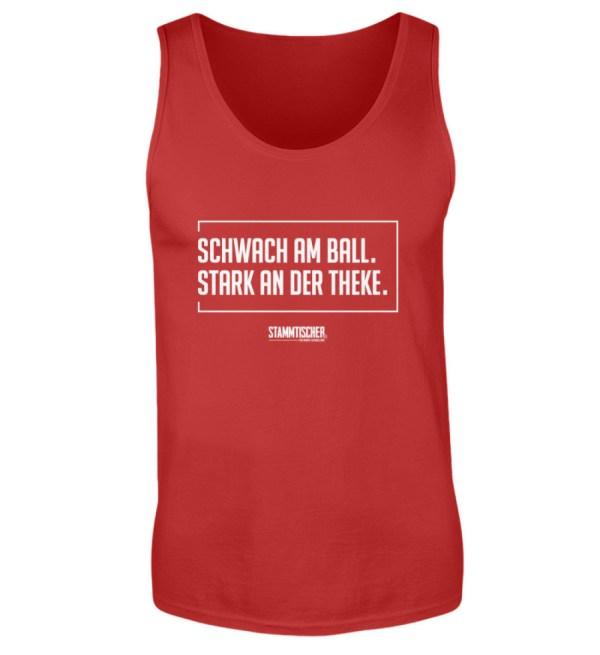 """Schwach am Ball. Stark an der Theke."" T - Herren Tanktop-4"