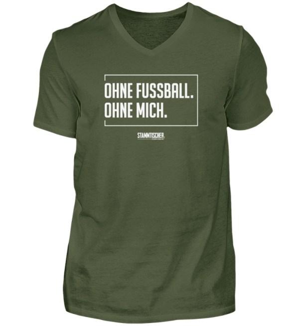 """""""Ohne Fussball. Ohne mich."""" - V-Neck - Herren V-Neck Shirt-2587"""