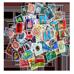 100 Different Lietchtenstein Postage Stamps