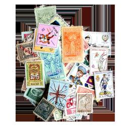 50 Different Macau Postage Stamps