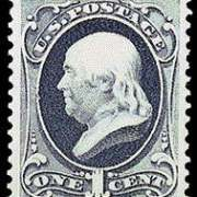 1¢ Franklin - dark ultramarine