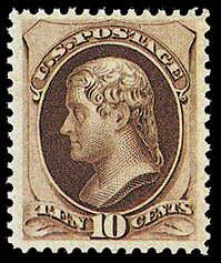 10¢ Jefferson (secret mark) - brown