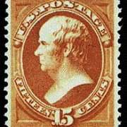 15¢ Webster - red orange