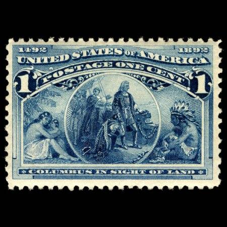 1893 U.S. Stamp #230 - image from arago.si.edu