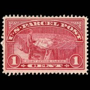 United States Parcel Post Stamps - 1912 - 1913 All Printed in Carmine Rose - 1¢ P.O. Clerk - image representative only and is from arago.si.edu