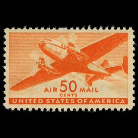 U.S. Airmail Stamp #C31 - image from arago.si.edu and is representative only