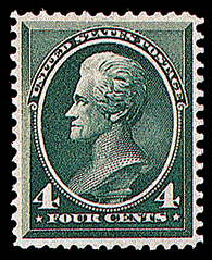 4¢ Jackson - blue green