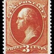 3¢ Washington - vermillion