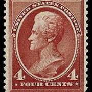 4¢ Jackson - carmine