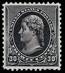 30¢ Jefferson - black