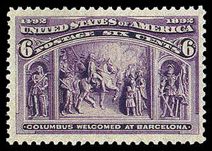 6¢ At Barcelona - purple