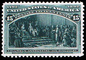 15¢ Discovery - dark green