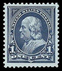 1¢ Franklin - blue
