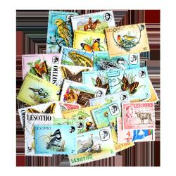 25 Different Lesotho Postage Stamps