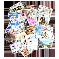 25 Different Spanish Andorra Postage Stamps