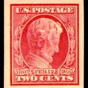 2¢ Lincoln Imperforate