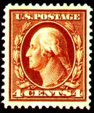 4¢ Washington - brown