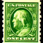 1¢ Franklin - green