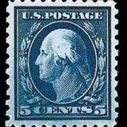 5¢ Washington - blue