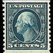 5¢ Washington - blue