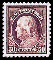 50¢ Franklin - red violet
