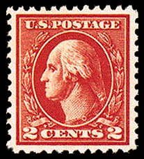 2¢ Washington Type V - carmine