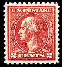 2¢ Washington Type Va - carmine