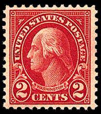 2¢ Washington (1923) - carmine
