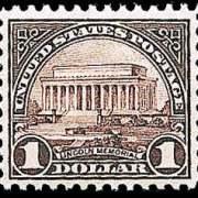 $1 Lincoln Memorial (1923) - violet black