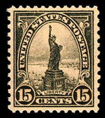 15¢ Statue of Liberty - gray