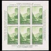 1¢ Yosemite Sheet of 6