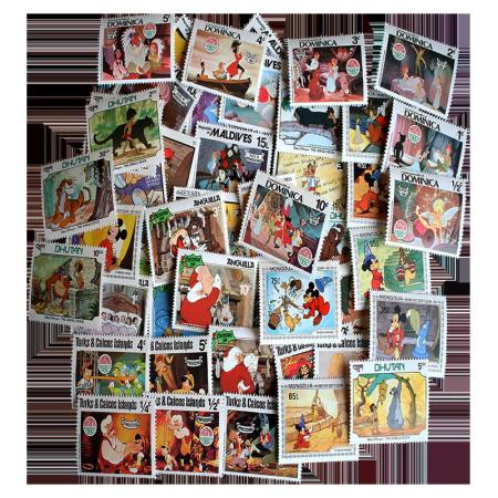 Disney Topical Postage Stamp Collection 50 pc