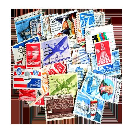 Packet of 33 US Airmail Stamps