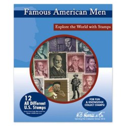 Famous American Men Starter Stamp Collection
